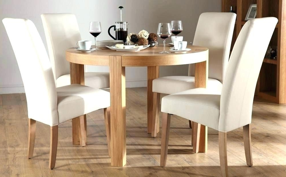 Favorite Round Oak Dining Tables And 4 Chairs Throughout 4 Foot Square Dining Table 4 Foot Round Table Oak Table And Chairs (View 6 of 20)