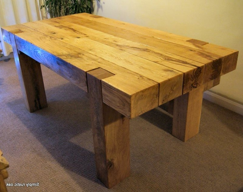 Favorite Rustic Oak Dining Tables With Regard To Rustic Oak Dining Tables – Decorenable (View 7 of 20)