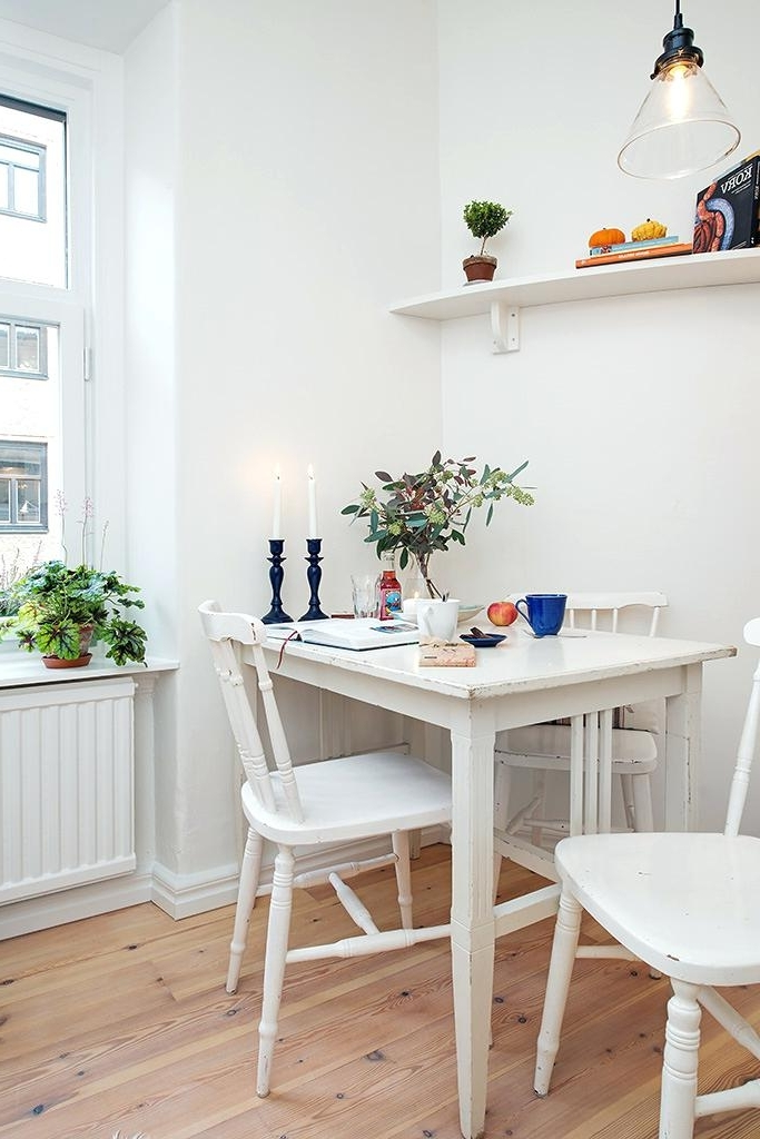 Favorite Small White Dining Tables Intended For Small White Dining Table Modern Square White High Gloss Table 4 For (View 10 of 20)