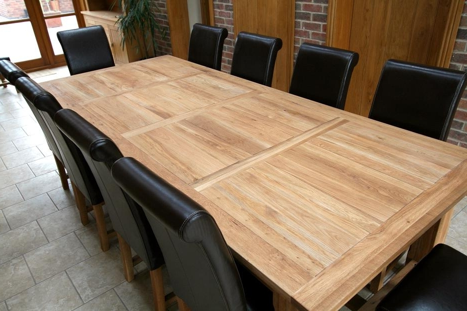 Favorite Solid Oak Dining Tables In Refectory Tables (View 8 of 20)