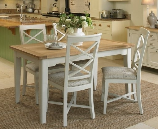 Favorite St Ives Small Extending Dining Set With Table & 4X Cross Back Chairs Inside Small Extending Dining Tables And Chairs (View 8 of 20)