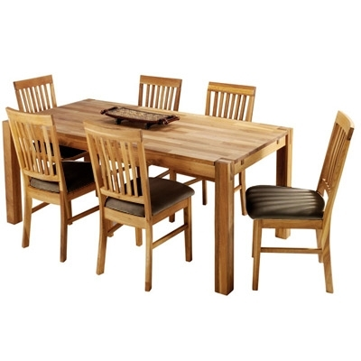 Favorite The Hannover Oak Dining Room Table And 6 Leather Chairs For Only £669 Inside Oak Dining Tables And Leather Chairs (View 20 of 20)