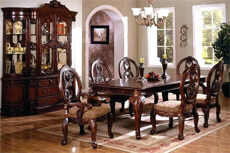 Favorite Traditional Dining Tables Intended For Elegant Dining Table – Perfectfashion (View 15 of 20)