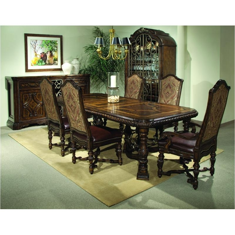 Favorite Valencia 5 Piece Round Dining Sets With Uph Seat Side Chairs Intended For 209221 2304Tp A R T Furniture Valencia Trestle Dining Table (View 11 of 20)