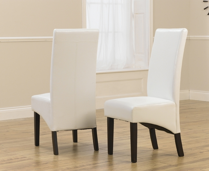 Favorite Verona Dark Ivory Faux Leather Dining Chair With Dark Brown Legs (A Intended For Ivory Leather Dining Chairs (View 6 of 20)