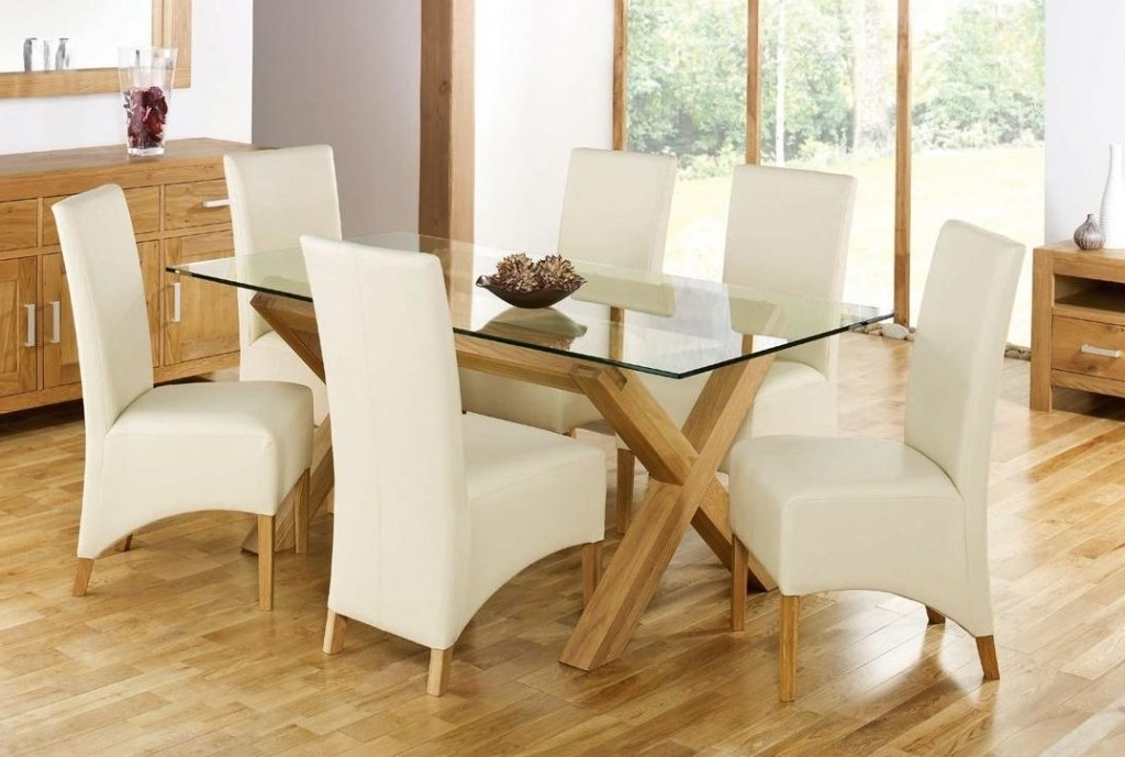 Favorite White Glass Dining Table Round Oak Dining Table Oak Round Dining Pertaining To Glass And Oak Dining Tables And Chairs (View 6 of 20)