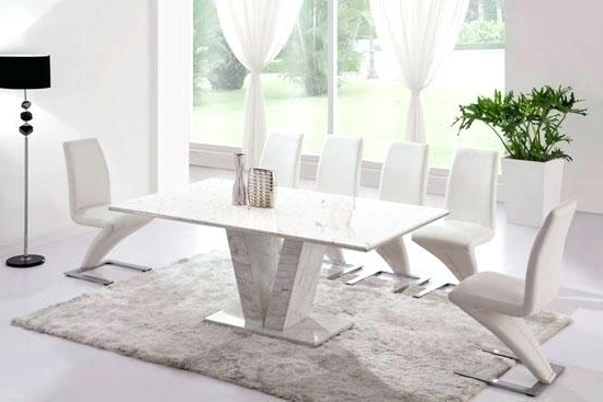 Favorite White Marble Dining Table Refectory Marble Dining Table With 6 Or 8 With Solid Marble Dining Tables (View 4 of 20)