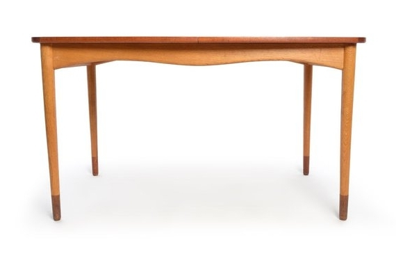 Finn Juhl For Bovirke Dining Table Extensions Leaves Teak Mid (View 12 of 20)