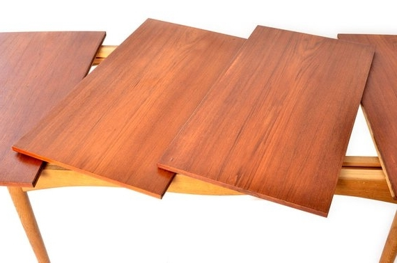 Finn Juhl For Bovirke Dining Table Extensions Leaves Teak Mid (View 13 of 20)