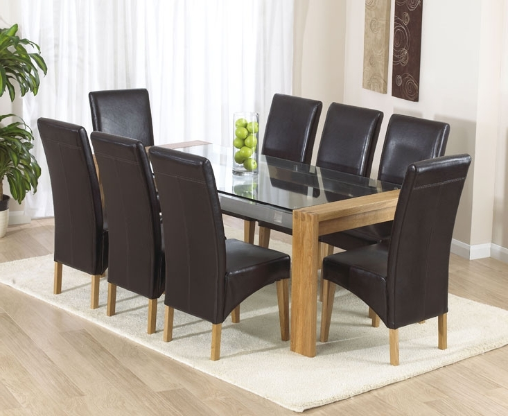 First Furniture For Oak Dining Tables And Leather Chairs (View 12 of 20)