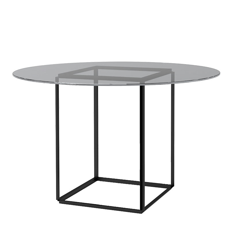 Florence Dining Tables Intended For Newest New Works Florence Dining Table, Black – Smoked Glass (View 4 of 20)
