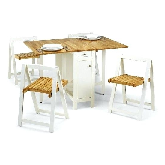 Folding Dining Table And Chairs Sets For Preferred Folding Dining Table And Chairs Set – Newhillresort (View 4 of 20)