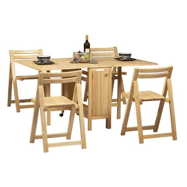 Folding Dining Table And Chairs Sets Regarding Well Known 15 Ultra Functional Folding Chairs Designs For Small Dining Rooms (View 7 of 20)