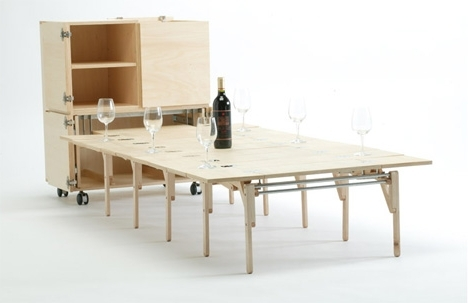 Folding Dining Table With Chair Storage Folding Dining Table Fold With Regard To Most Recent Foldaway Dining Tables (View 7 of 20)