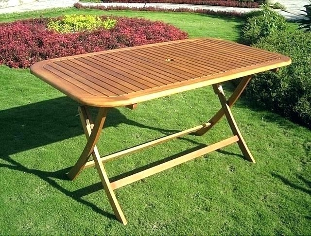 Folding Outdoor Dining Table Collapsible Outdoor Dining Table With Regard To Well Liked Folding Outdoor Dining Tables (View 8 of 20)