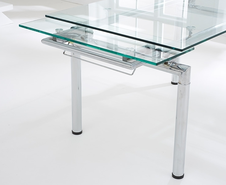 Forli 140Cm 200Cm Glass Extending Dining Table In Most Popular Glass Extending Dining Tables (View 6 of 20)