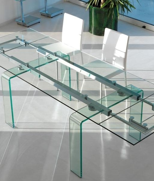 Fortuny Extension Extendable Glass Dining Table (View 13 of 20)