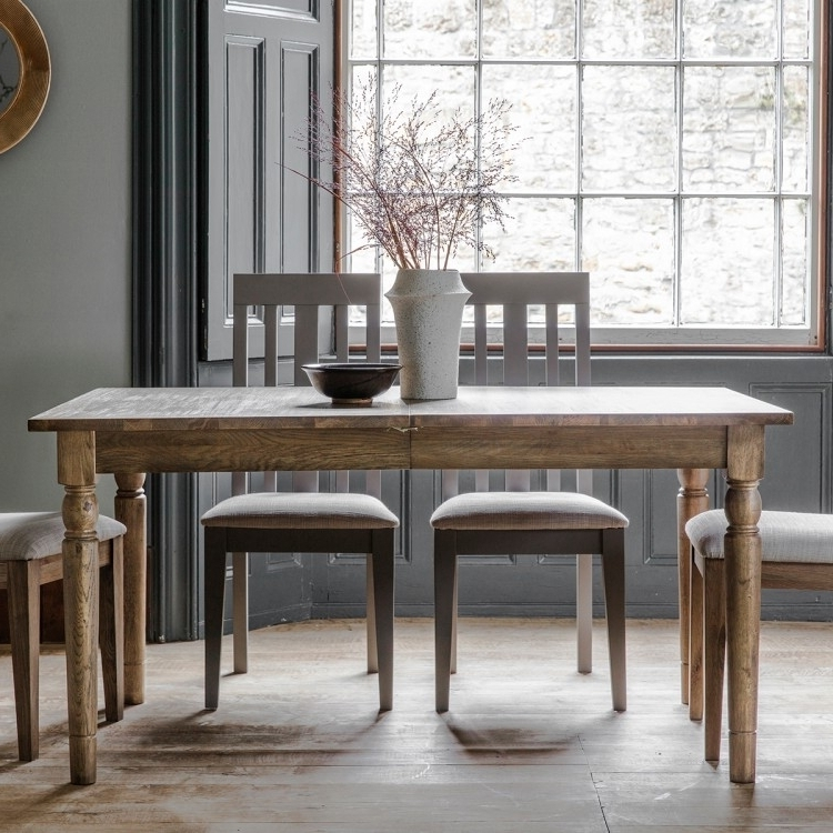 Frank Hudson Gallery, Cookham Oak Extending Dining Table – Cfs For Fashionable Extending Rectangular Dining Tables (View 13 of 20)