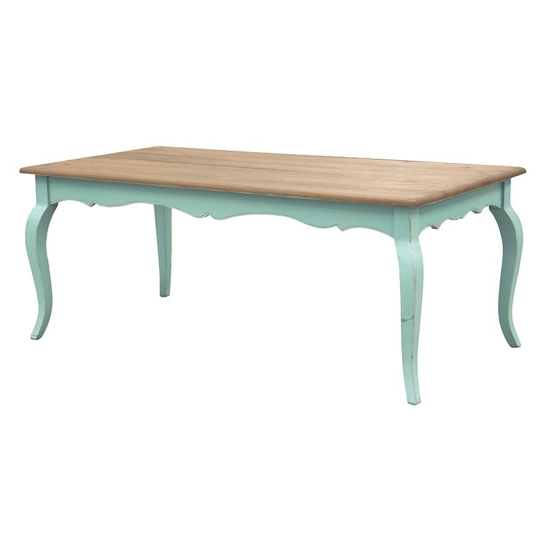 French Chic Dining Tables For Well Liked Etienne Turquoise French Dining Table (View 7 of 20)