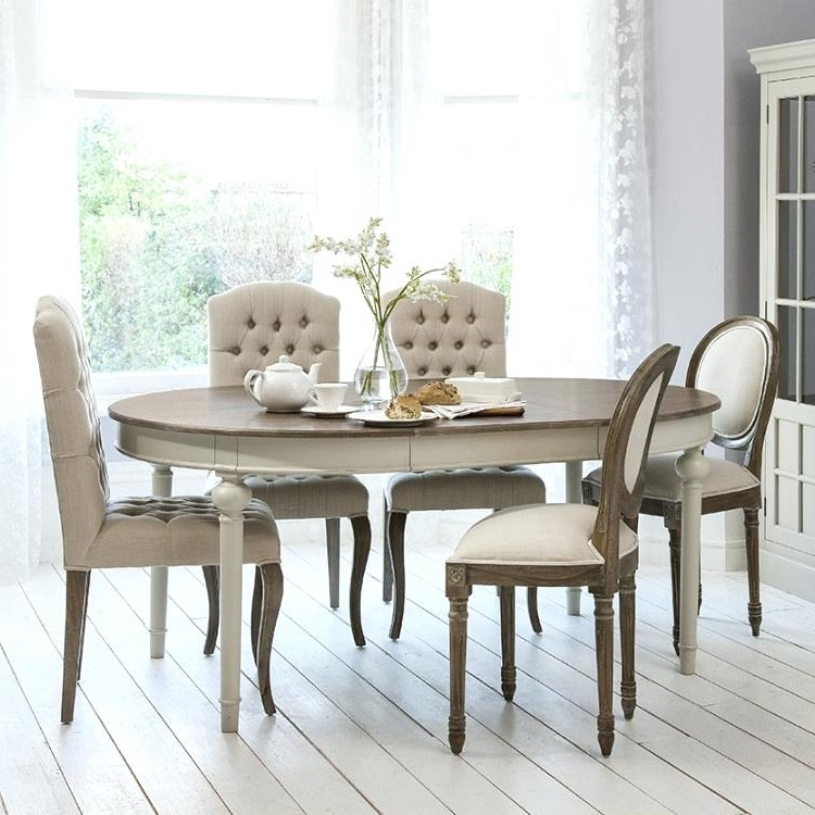 French Chic Dining Tables Regarding 2017 Chic Dining Table French Tables Ideas Shabby Chairs And Bench (View 11 of 20)