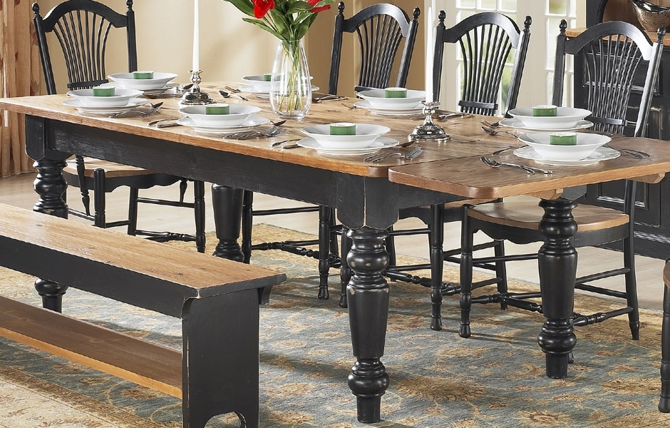 French Country Dining Room Furniture Intended For Dining Tables With Large Legs (View 10 of 20)