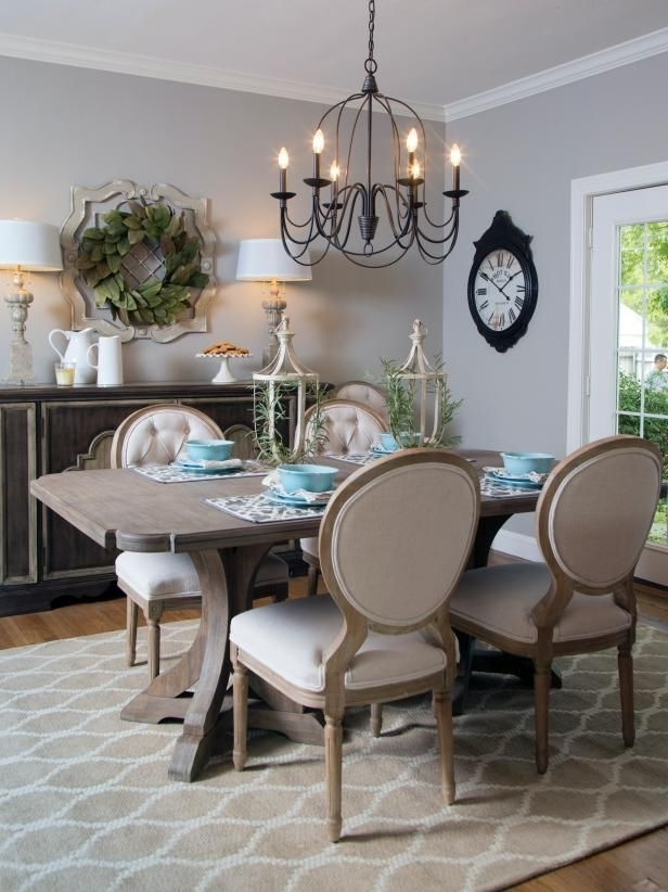 French Country Dining Tables With Most Up To Date Check Out This French Country Style Dining Room From Hgtv's Fixer (View 10 of 20)