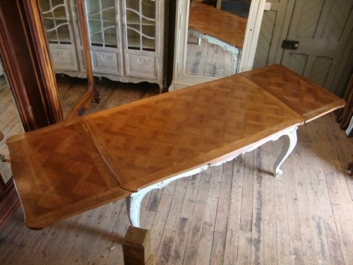 French Extending Dining Tables In Most Up To Date French Walnut Extending Dining Table (View 11 of 20)