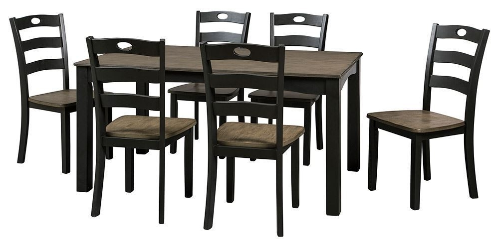 Froshburg Dining Table With Six Chairs (View 10 of 20)