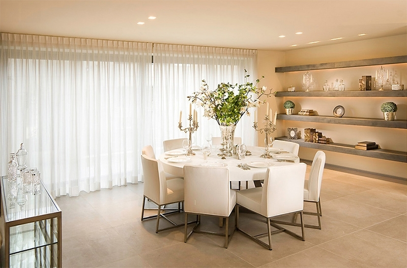Furniture Arrangement Ideas: 25 Dining Rooms With Round White Dining Within 2017 White Circular Dining Tables (View 8 of 20)