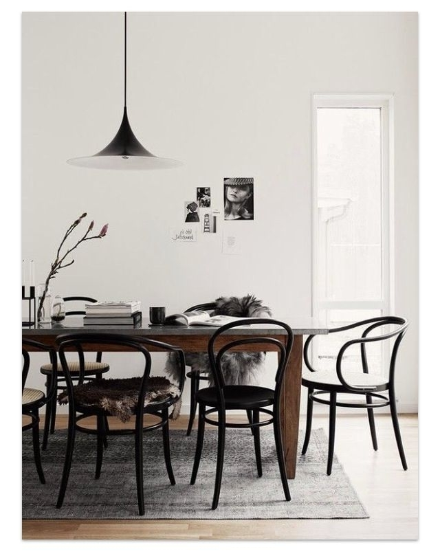Furniture, Bentwood Chairs And In Most Current Palazzo 7 Piece Dining Sets With Pearson White Side Chairs (View 6 of 20)