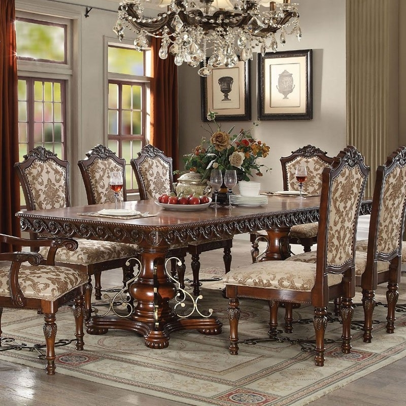 Furniture Cart Within Magnolia Home Double Pedestal Dining Tables (View 6 of 20)