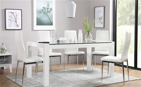 Featured Photo of White Glass Dining Tables And Chairs