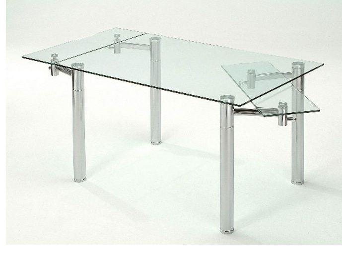 Furniture Dining Room Furniture Glass Table Extendable Glass Table Pertaining To Well Known Extendable Glass Dining Tables (View 12 of 20)