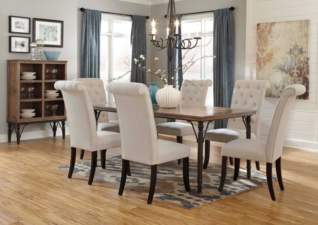 Furniture Exchange Tripton Rectangular Dining Table W/6 Side Chairs Regarding Preferred Dining Room Chairs (View 8 of 20)