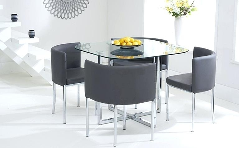 Furniture Glass Top Dining Table Set 4 Chairs In Favorite Cheap Glass Dining Tables And 4 Chairs (View 13 of 20)