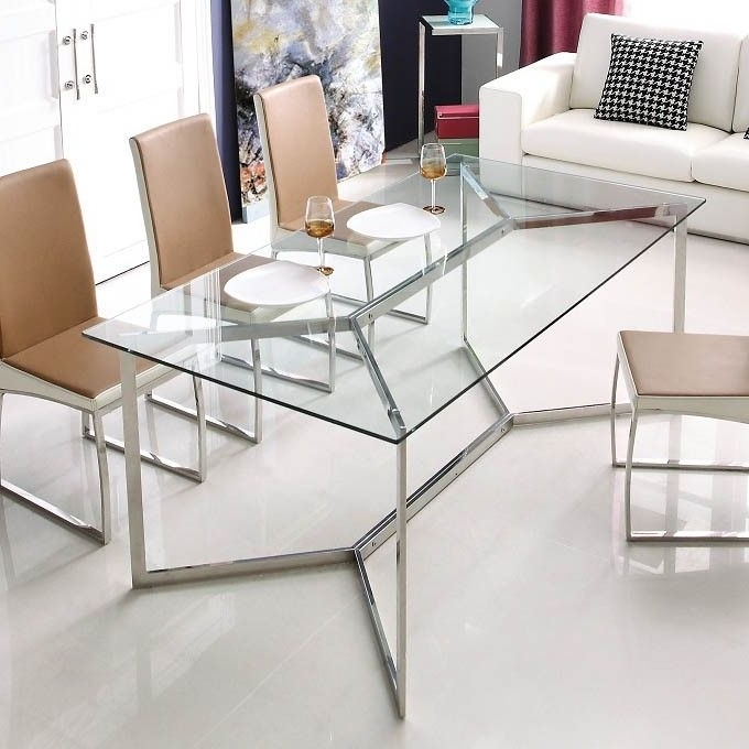 Furniture Intended For Trendy Brushed Steel Dining Tables (View 14 of 20)