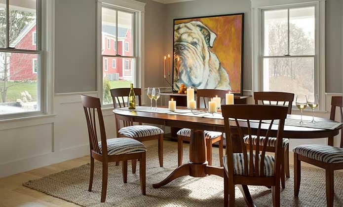 Furniture Massachusetts In Laurent 5 Piece Round Dining Sets With Wood Chairs (View 5 of 20)