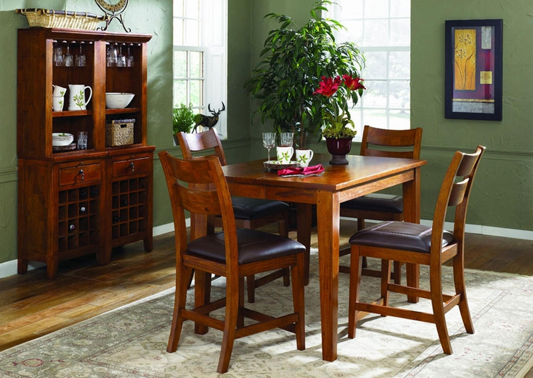 Furniture & More Galleries Urban Craftsmen Square Dining Table W/ 4 Pertaining To Preferred Craftsman 5 Piece Round Dining Sets With Side Chairs (View 9 of 20)