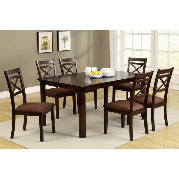 Furniture Of America Dietric Espresso Finish 7 Piece Dining Set With Regard To Best And Newest Caden 6 Piece Rectangle Dining Sets (View 6 of 20)