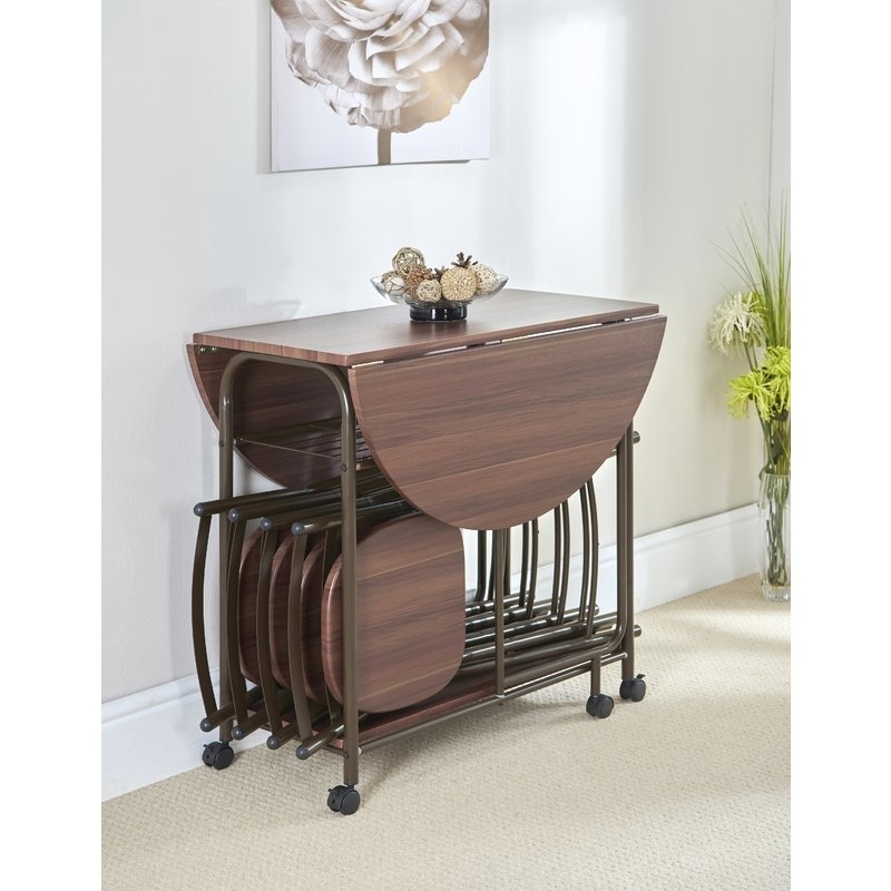 Gablemere Stowaway Dining Table And 4 Chairs (Gallery 10 of 20)