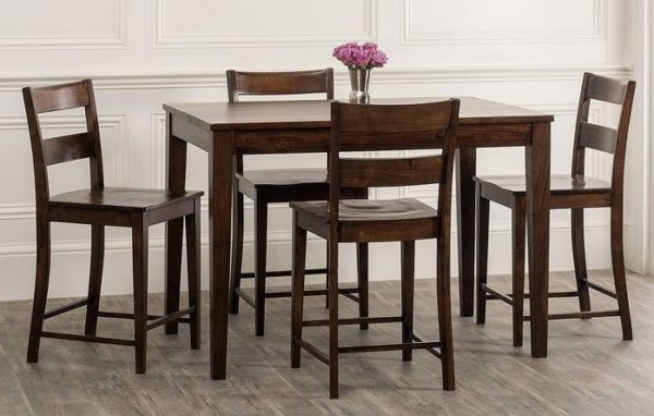 Gambino 5 Piece Counter Height Dining Set For Well Liked Market 5 Piece Counter Sets (View 2 of 20)