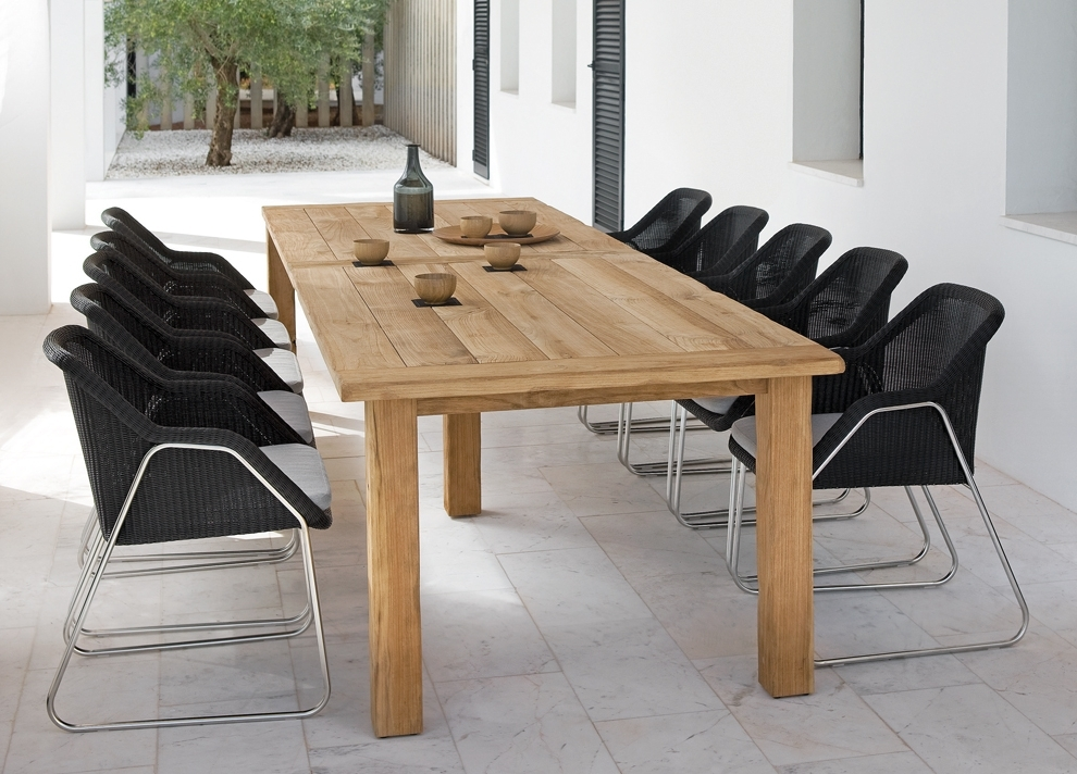 Garden Dining Tables Intended For Most Up To Date Manutti Asti Teak Garden Dining Table – Modern Garden Tables (View 14 of 20)