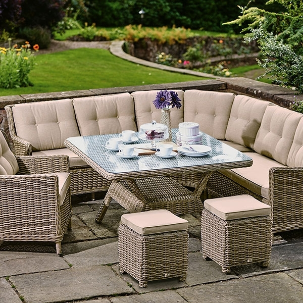 Garden Dining Tables Throughout Widely Used Garden Dining Sets – Rattan Garden Sets (View 10 of 20)