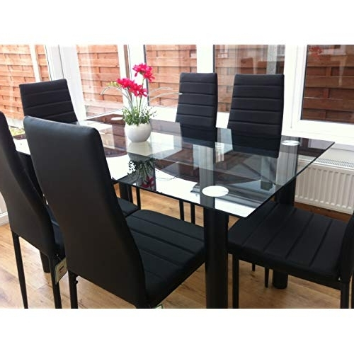 Gavin 6 Piece Dining Sets With Clint Side Chairs With Regard To Widely Used Dining Tables And Chairs: Amazon.co.uk (Gallery 5 of 20)