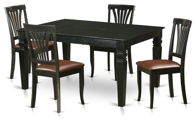 Gavin Dining Tables Within Most Current Gavin Dining Table Set, Black – Traditional – Dining Sets – (Gallery 4 of 20)