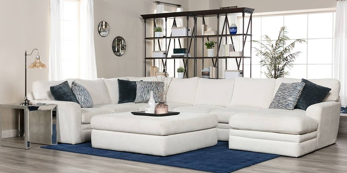 Glamour Ii 3 Piece Sectionals Within Trendy Transitional Living Room With Glamour Ii Sofa (View 7 of 15)