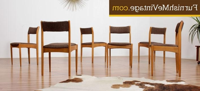 Glasgow Dining Sets Regarding 2017 Set Of (6) Mid Century Morris Of Glasgow Dining Chairs (View 7 of 20)