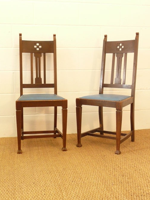 Glasgow Dining Sets With Regard To Most Up To Date Set Of 8 Arts Crafts Glasgow Oak Dining Chairs – Antiques Atlas (View 9 of 20)