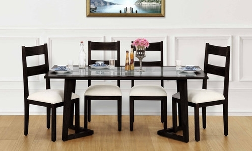 Glass 6 Seater Dining Tables In 2017 Glass Top 6 Seater Dining Tables, 6 Seater Dining Table Set – Gunjan (View 12 of 20)