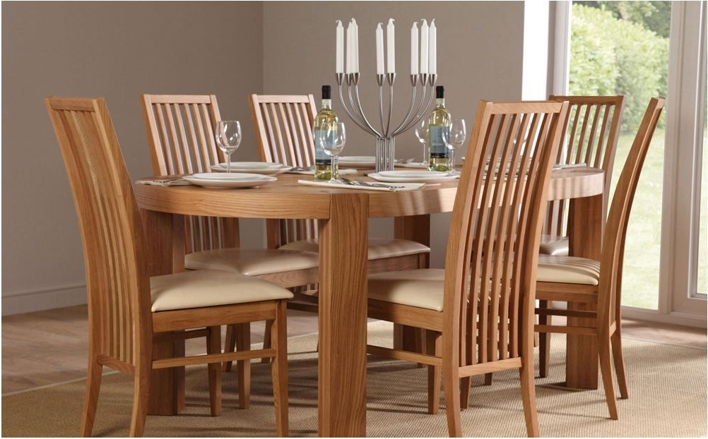 Glass And Oak Dining Tables And Chairs Regarding Most Recent Breathtaking Extending Oak Dining Table With 4 Chairs Flintshire (View 11 of 20)